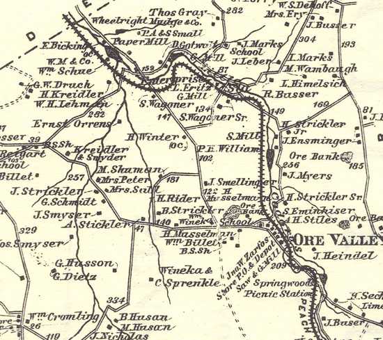 Peach Bottom Railway, York Township 1876