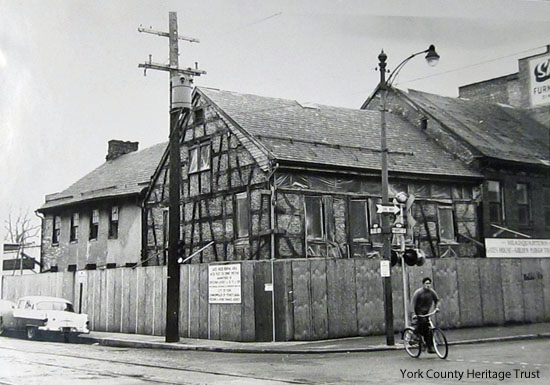 During--restoration work going on in 1961.