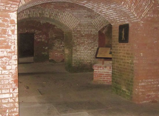 Cell area where Spangler and the other Lincoln prisoners were confined.