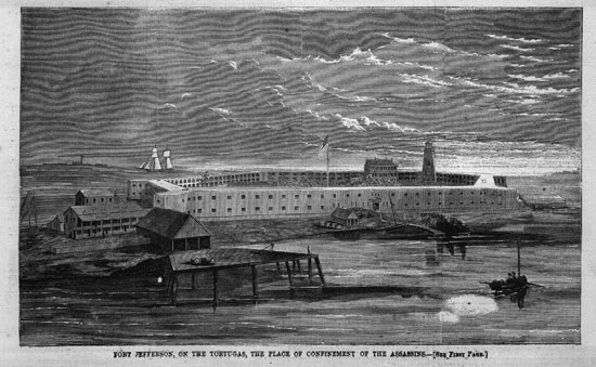 Fort Jefferson in the 1860s. Digital source: U-M Library Digital Collections. Harper Weekly.