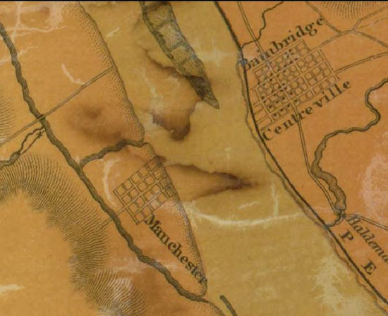 Joshua Scott 1824 Map of Lancaster County showing York County shore.  Library of Congress.