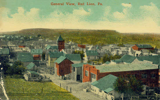 Postcard view of Red Lion c.1917