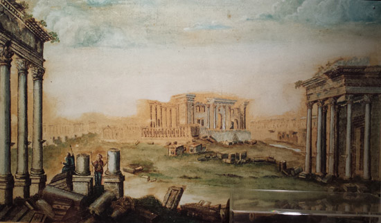 Fisher's painting of Palmyra