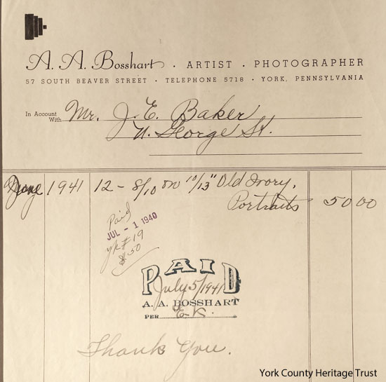 Photo invoice from 1941