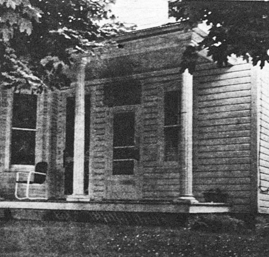Since 1926, the left side of this dwelling, owned by the telephone company and scheduled for private sale, has housed the hand-operated Stewartstown switchboard, which has a 300-line capacity for about 825 customers. There were nine toll connections to the county. York Telephone has serviced Stewartstown since 1905 but there was a smaller telephone service in the area before them.