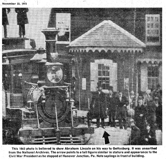 Portion of photograph as published in 1973 Free Press article