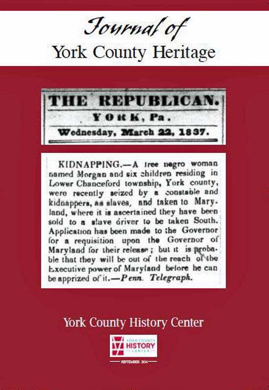 Cover preview of the 2016 Journal of York County Heritage