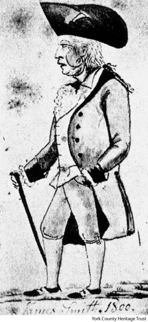Drawing of James Smith by Lewis Miller, who would have known Smith when Miller was a child