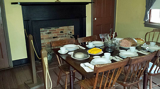 Surratt House travelers' dining room