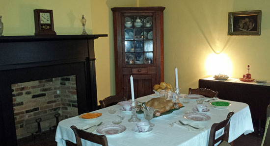 Surratt House family dining room