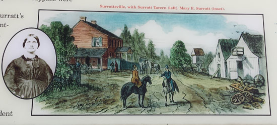 Surratt Tavern as it would have looked in 1865