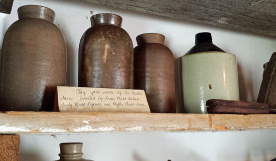 Clay jars in Mudd kitchen made by their enslaved workers