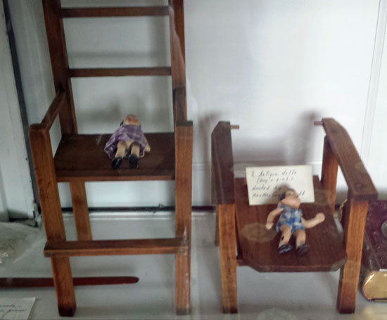 Doll chairs made for Mudd children by Ned Spangler