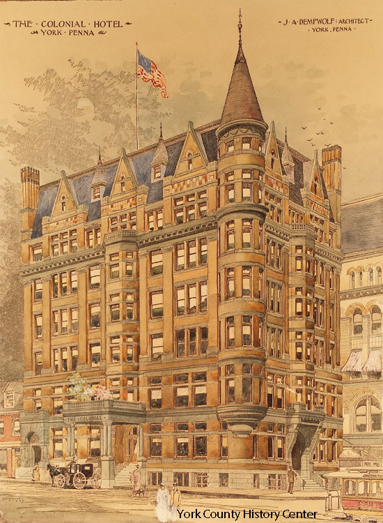 1892 Dempwolf perspective of the Colonial Hotel