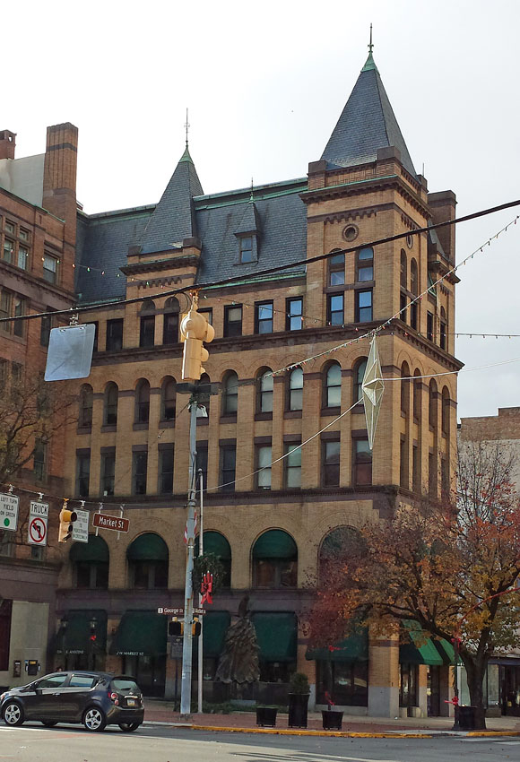 The building today, now usually known as the Rupp building for its original owner.