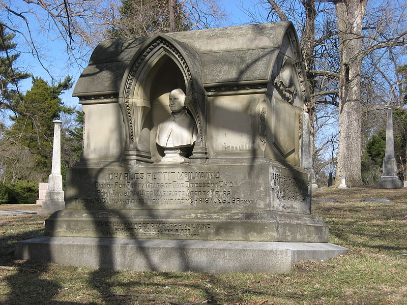 McIlvaines' grave in Cincinnati's Spring Grove Cemetery. Photo by Nyttend for Wikipedia.