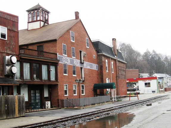 Modern view of the old woolen mill in Glen Rock (Scott Mingus photo)