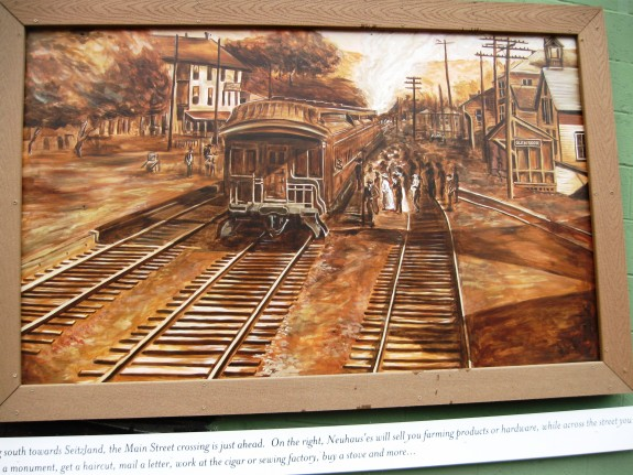 Mural along the modern Steam into History Civil War excusrion train tracks in Glen Rock.