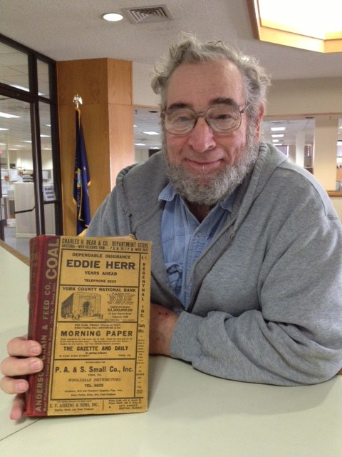 David Smith stopped by to drop off this 1943 York City phone book