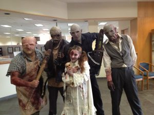 Field of Screams opens Friday the (September) 13, if these zombies can be believed.