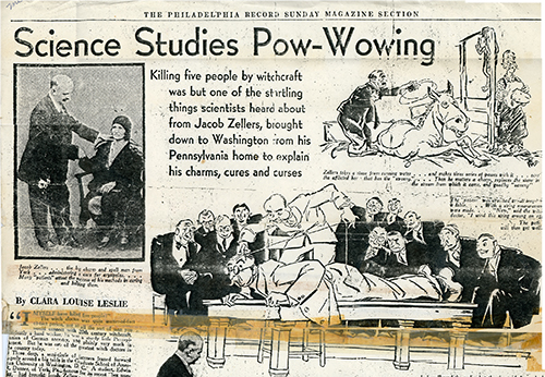 Article from The Phildelphia Record, 'Science Studies Pow-Wowing'Submitted