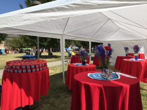 Our FlipSide tent provided shade for those looking for a cool place to eat. The favor boxes were a big hit along with our photo booth.  FlipSide also gave away concert tickets.
