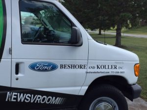 Shout out to our NewsVroom sponsor, Beshore and Koller Ford of Manchester, Pa.