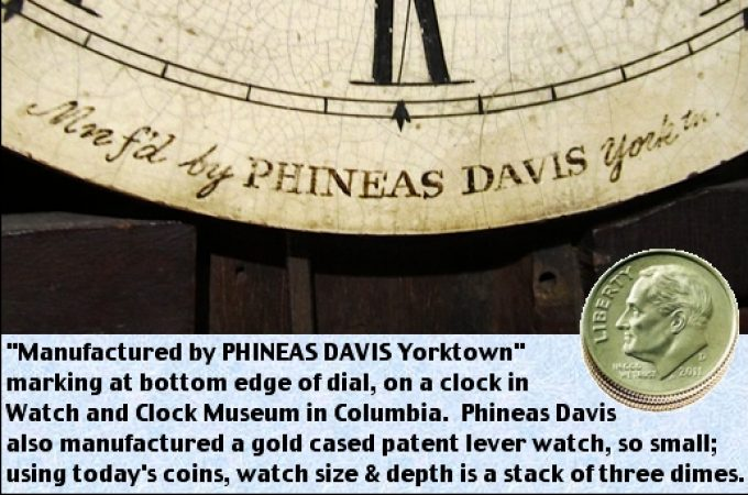 Ingenious little watch made by Phineas Davis