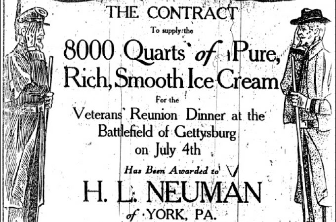 Gettysburg Civil War veterans served York ice cream July 4th