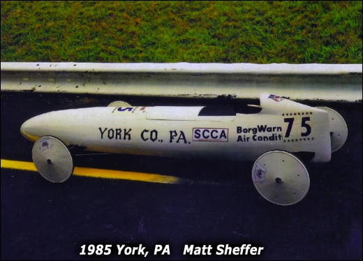 1985 Winning Soap Box Derby racer of Matt Sheffer, from York, Pa. (Official Soap Box Derby site)