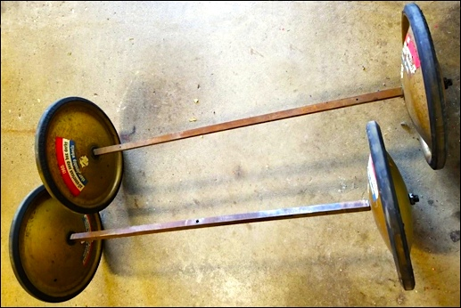 Official Soap Box Derby axles and wheels from the late 1950s