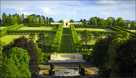Meuse-Argonne American Cemetery in France is burial location of 14,246 American WWI Veterans; including 24 Veterans from York County, PA (American Battle Monuments Commission photo)