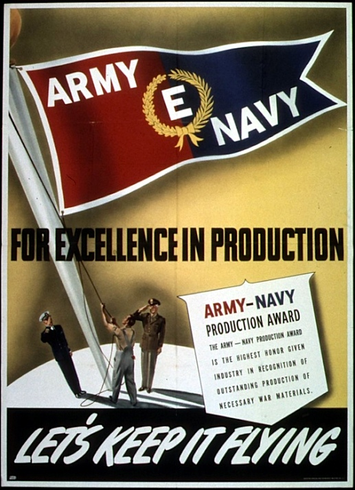 "WWII Army-Navy ""E"" Award poster (National Archives)"