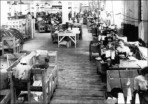Interior view of the H. J. Freezer Company plant in Spring Garden Township, York County, PA (June 27, 1944, photo in Collection of York County History Center)