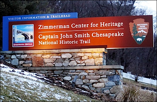 Sign in front of the Zimmerman Center for Heritage, 1706 Long Level Road (2019 S. H. Smith photo)