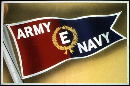 "From WWII Army-Navy ""E"" Award poster (National Archives)"
