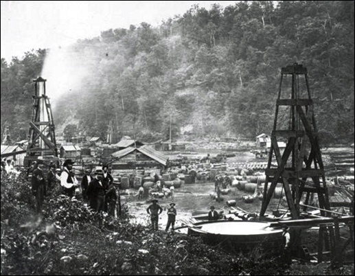 Early Pennsylvania oil field (Source: Wikimedia)