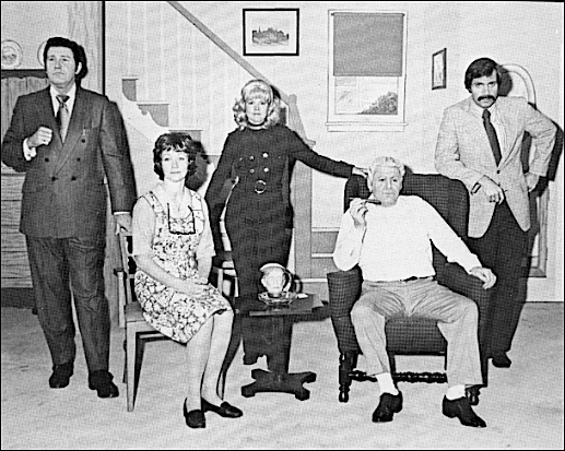 """Cast photo on front of Record Album cover entitled: """"York Division of Borg-Warner presents 'all in the YORK family;' a recording of a one-time-only """"sales musical"""" performed at a destination sales meeting in Bermuda during October-November 1972 (Collection of S. H. Smith)"""