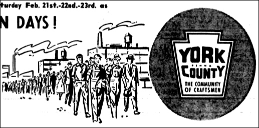 "Section of Sears ""Industry Appreciation Days"" ad in The Gazette and Daily, York, PA, issue of February 21, 1957."