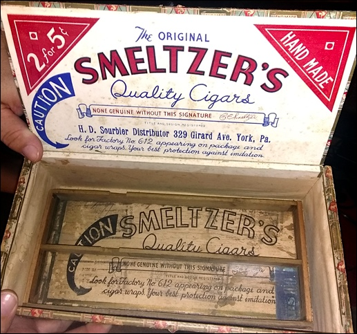 The Original Smeltzer's Quality Cigars box (Submitted by Nicholas Dercole)