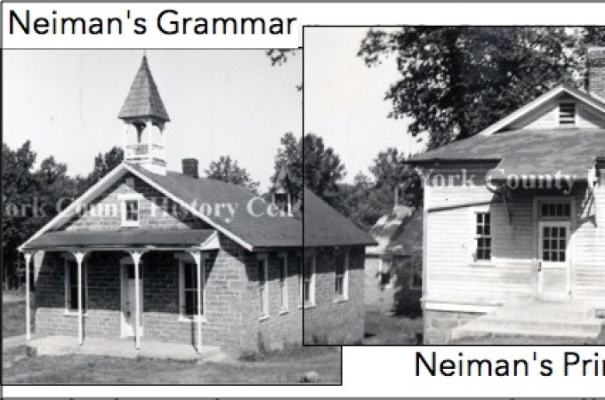Neiman's Grammar and Neiman's Primary were side-by-side One-Room-Schoolhouses in Conewago Township, York, Co., PA (1940 Photos in Collection of York County History Center)