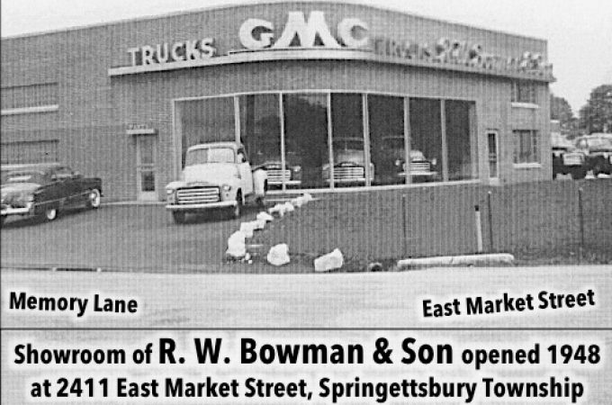 R. W. Bowman car dealership and the five Drive-Thru eateries