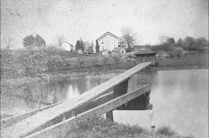 Baptismal Services in Niles Pond near Baumgardner's Woods