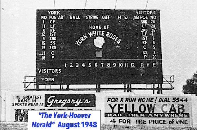 York-Hoover employees custom built Electric Scoreboard for Memorial Stadium