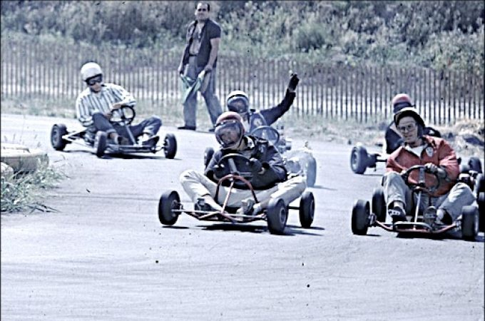 Go-Karting at Wagner's Diner on Lincoln Highway east of Hallam