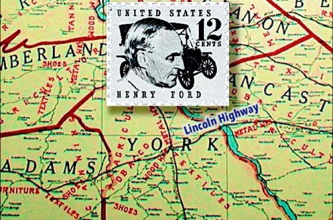 Henry Ford motored to York on the Lincoln Highway in 1929