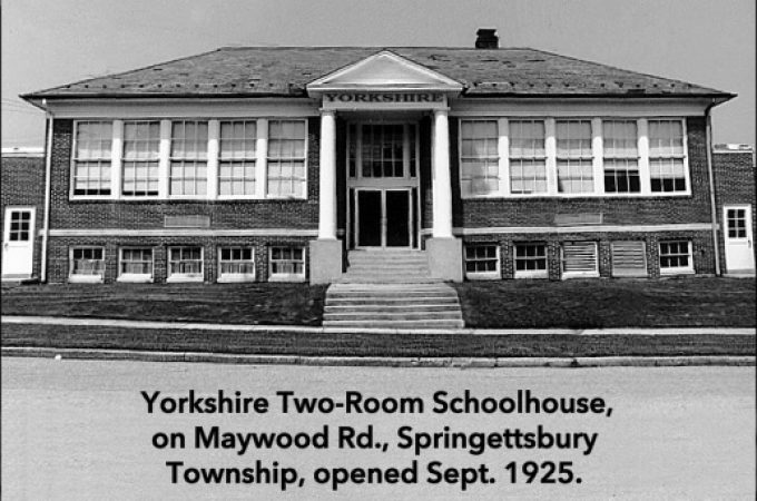 Yorkshire Schoolhouse and initial Springetts Fire Hall