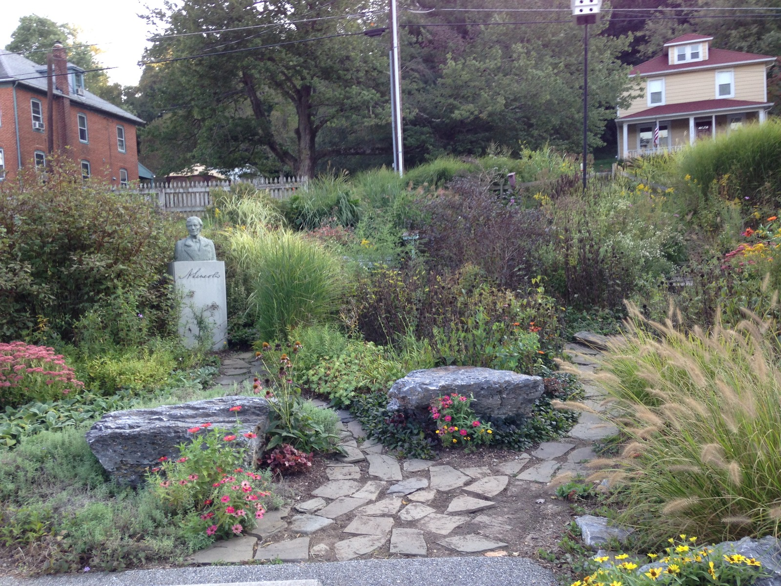 Abe Lincoln was here: Really, he was – in Hanover Junction. This garden reminds you of his visit