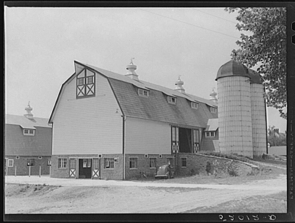 Big barns in Library of Congress photograph identified as Avalongs in Springettsbury Township